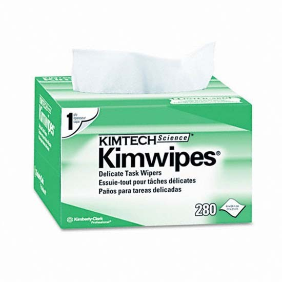 Kimwipes 280 Wipes/box, Nearly Lint Free, Soft And Non-abrasive For Fiber Cleaning And Fusion Splice Made By Firstfiber