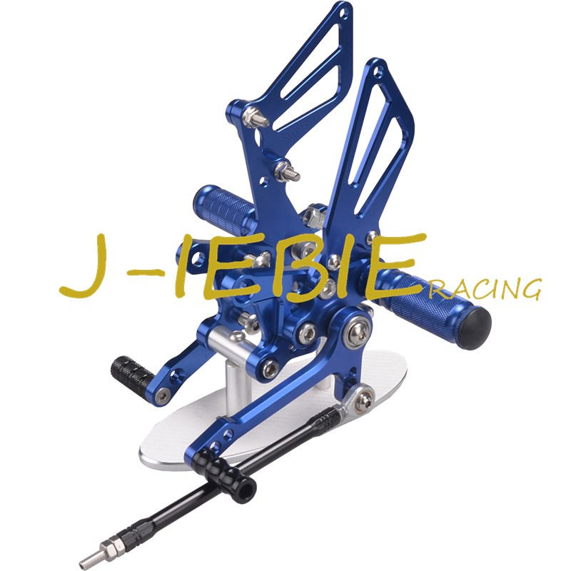 CNC Racing Rearset Adjustable Rear Sets Foot pegs For Suzuki GSXR1000 2001-2004 GSXR600 GSXR750 2001-2005 SV650 SV1000 BLUE adjustable rider rear sets rearset footrest foot rest pegs gold for suzuki gsxr600 gsxr750 gsxr 600 750 2011 2012 2013 2014 2015