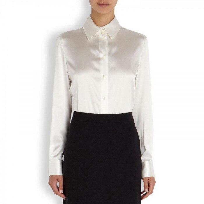 Aliexpress.com : Buy S XXXL women Fashion silk satin blouse button ...