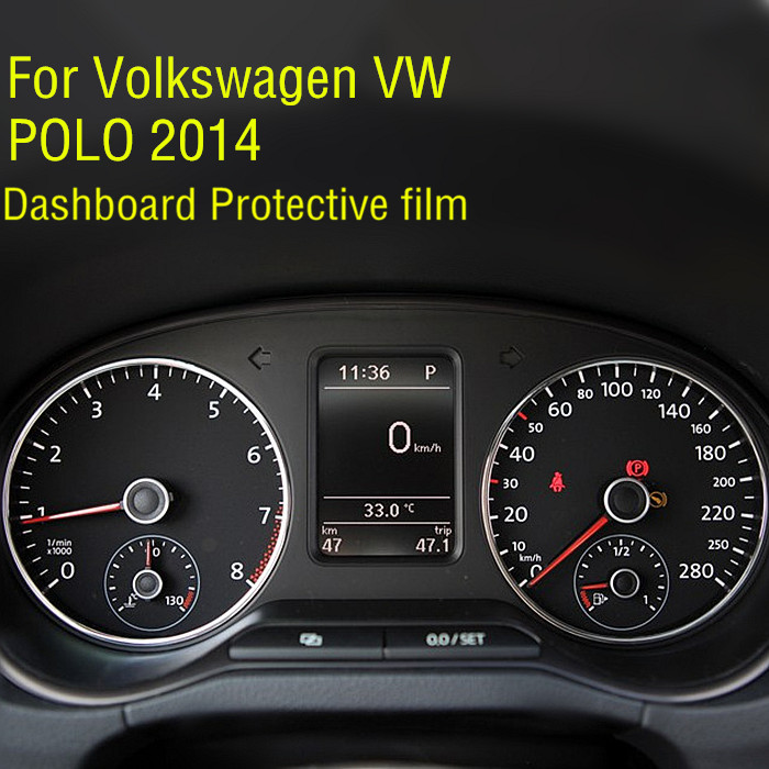 Arrive Dedicated Car Automobile HD 4H Instrument Screen Protector For Volkswagen VW POLO 2014 Dashboard Protective Film