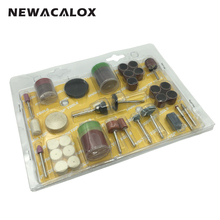 NEWACALOX Abrasive Tools 105PCS Bit Set Quality Drills Rotary Tool Mill Cutter Sander Paper Wire Brush
