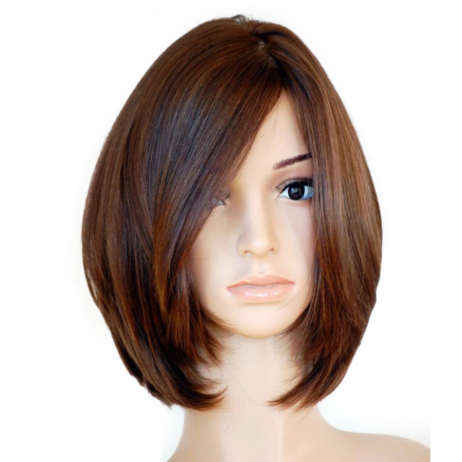 Jewish Wigs European Virgin Hair With Baby Hair Straight Human Hair Wigs Silk Top Side Bangs Kosher Wig Pre Colored Venvee