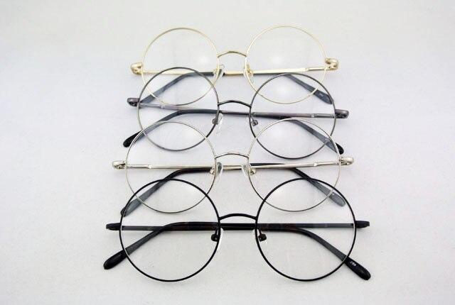 360 Do Vintage Rodada 49mm Armação DOS Óculos FULL-RIM Primavera Dobradiça  PRETO CINZA PRATA OURO Óculos Retro Marca New Top Quality RX aa074aa5fa