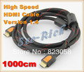 High Speed 4K*2K HDMI Cable / Version 1.4 / 1080P / PC&HDTV cable / Ethernet 3D Ready / Male to Male Cable/ 10M / Free shipping