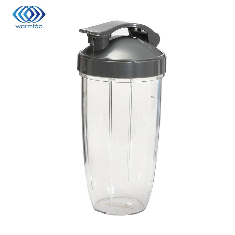 32OZ Plastic Transparent Juice Blender Cup+Cover Lid+Sealing Ring Gasket For Nutribullet 600/900w Durable Quality