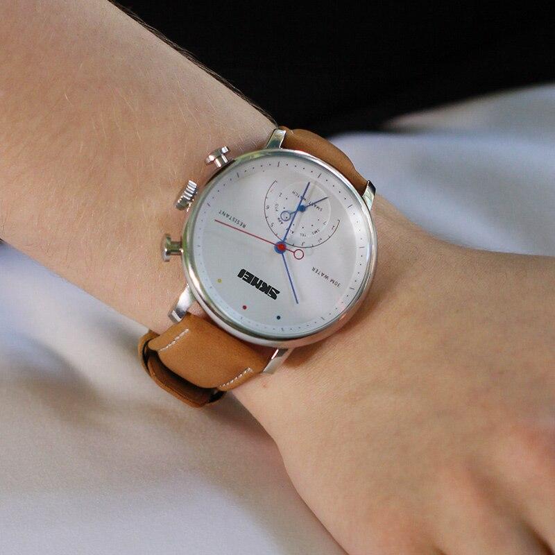 SKMEI модные и повседневные умные мужские и женские часы Blueteeth фотография пара Quatz наручные часы H8 - 2