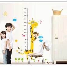 Measure Height Wall Stickers Cartoon Giraffe Of Kindergarten Children's Room Chart Ruler Environmental Protection Home Decor