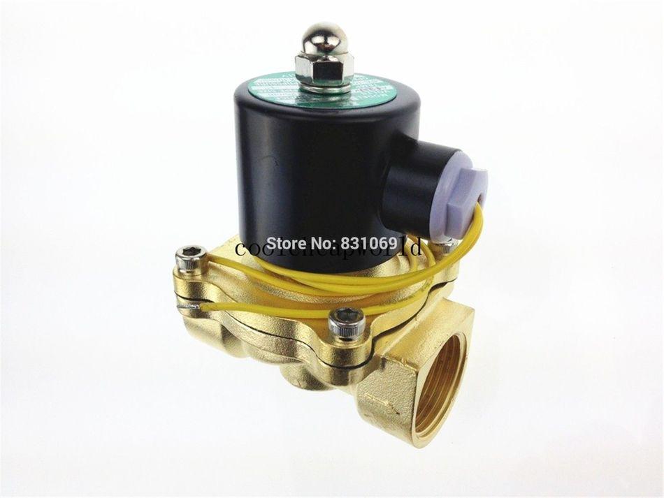 1piece 12V DC 1 Electric Solenoid Valve Water Air N/C NC Normal Close 3 8 electric solenoid valve water air n c all brass valve body 2w040 10 dc12v ac110v