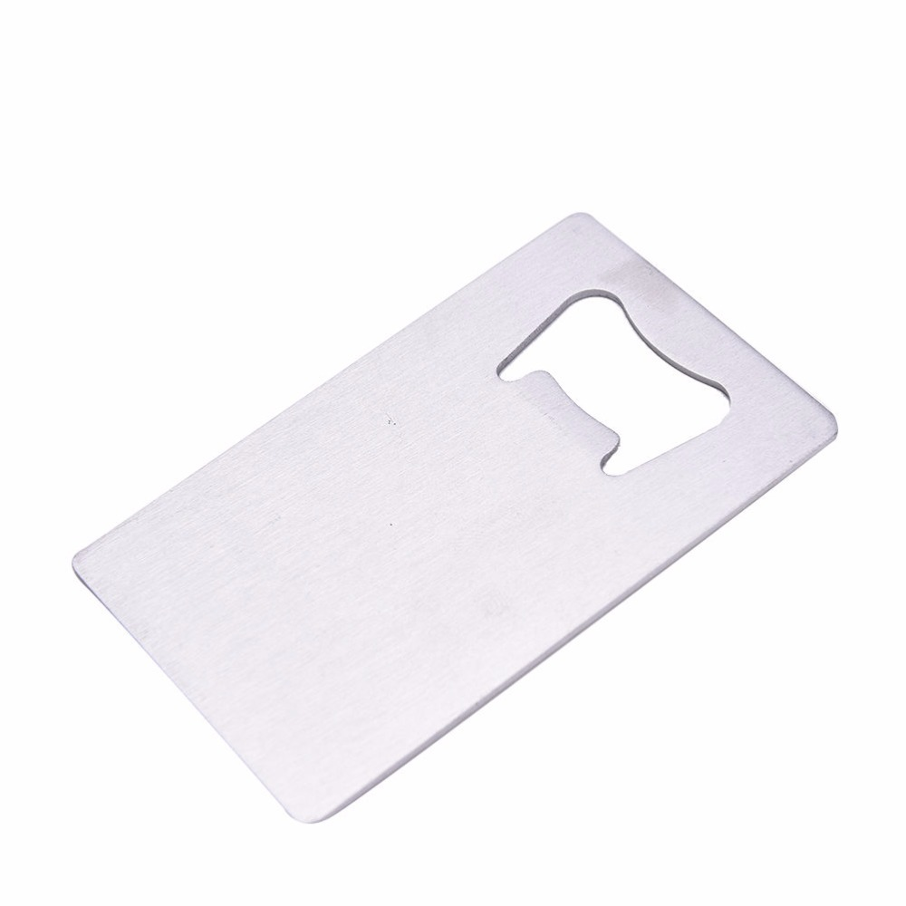 heavy stainless steel brushed finish travel wallet credit card bottle openerchina mainland - Credit Card Bottle Opener