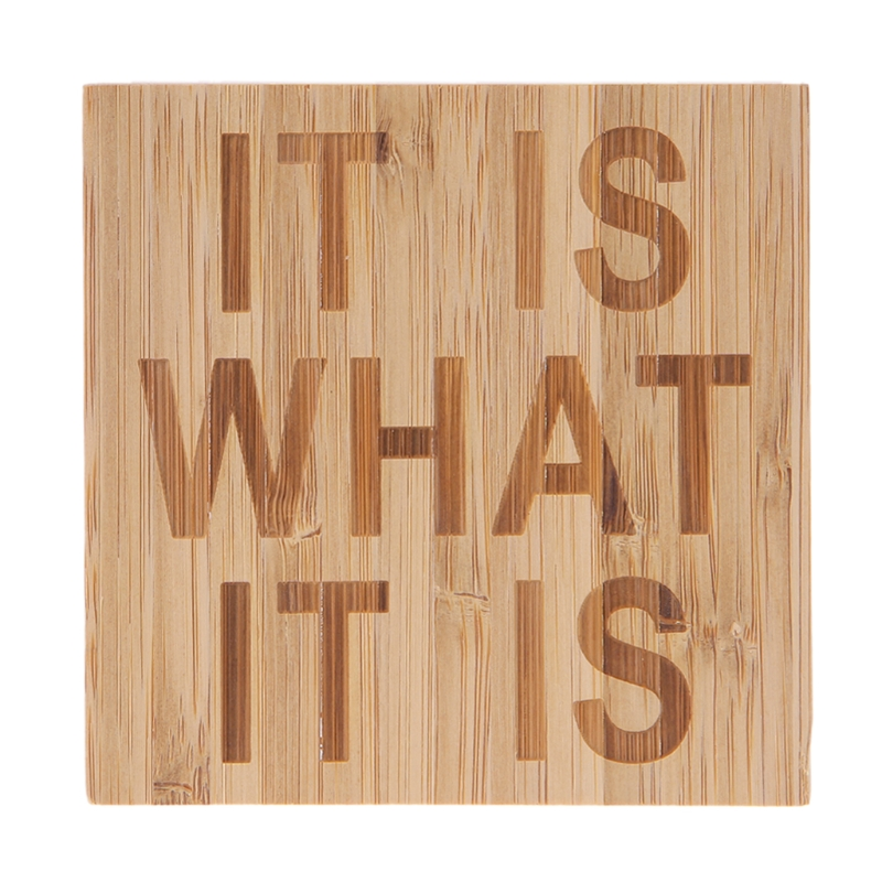 IT IS WHAT Wooden Sign Wedding Rustic Home Table Desk Decoration Ornaments