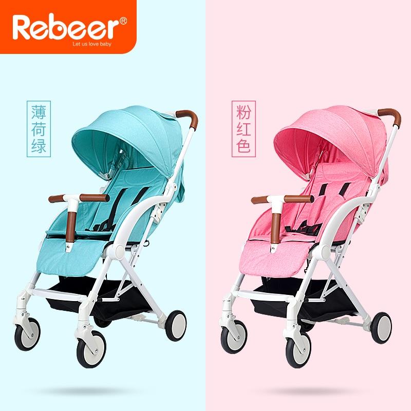 Rebeer haute paysage bébé chariot léger pliant parapluie voiture bébé styroller pour poupées