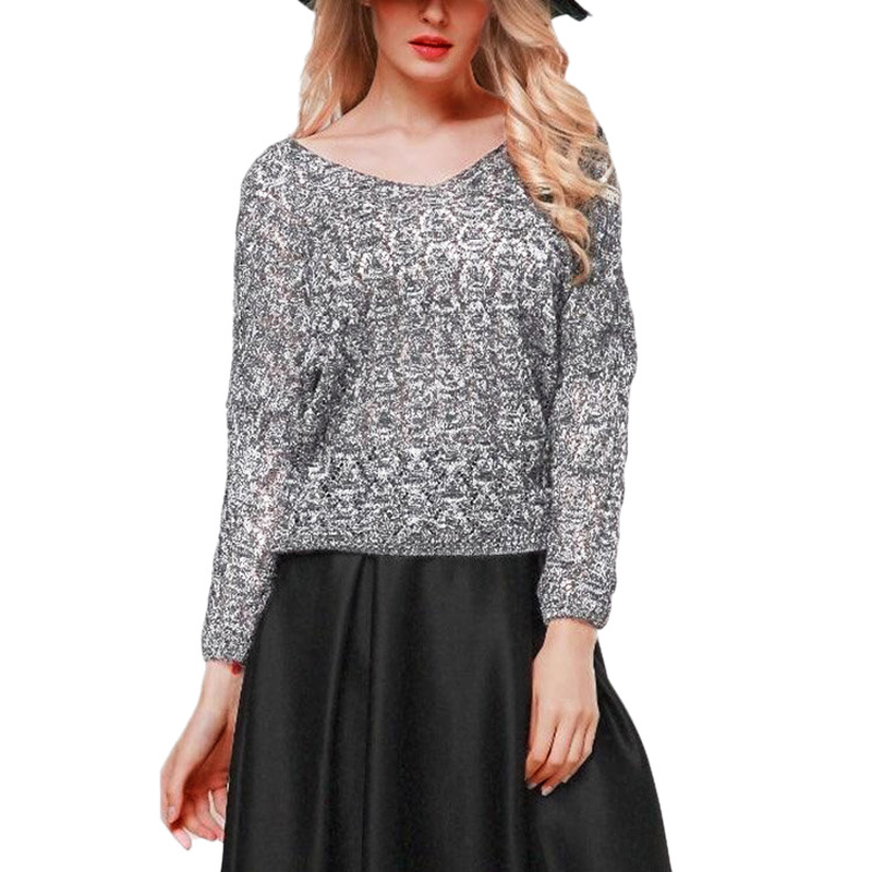 Spring Autumn Openwork Womens Knitted Sweater V Neck Thin Casual Coats Woman Fashion OL Loose Pullover Female Long-sleeve Tops