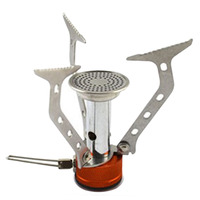 Portable Stainless Steel Camping Stove Outdoor Picnic Cookout Mini Gas Free Shipping
