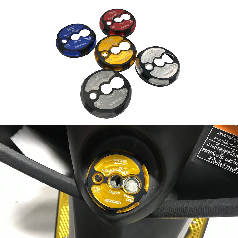 Motorcycle CNC N-MAX 155 150 <font><b>125</b></font> Switch Door Key Lock Button Cover Protector 2015-2018 2019 For <font><b>YAMAHA</b></font> NMax155 NMax150 NMax125 image