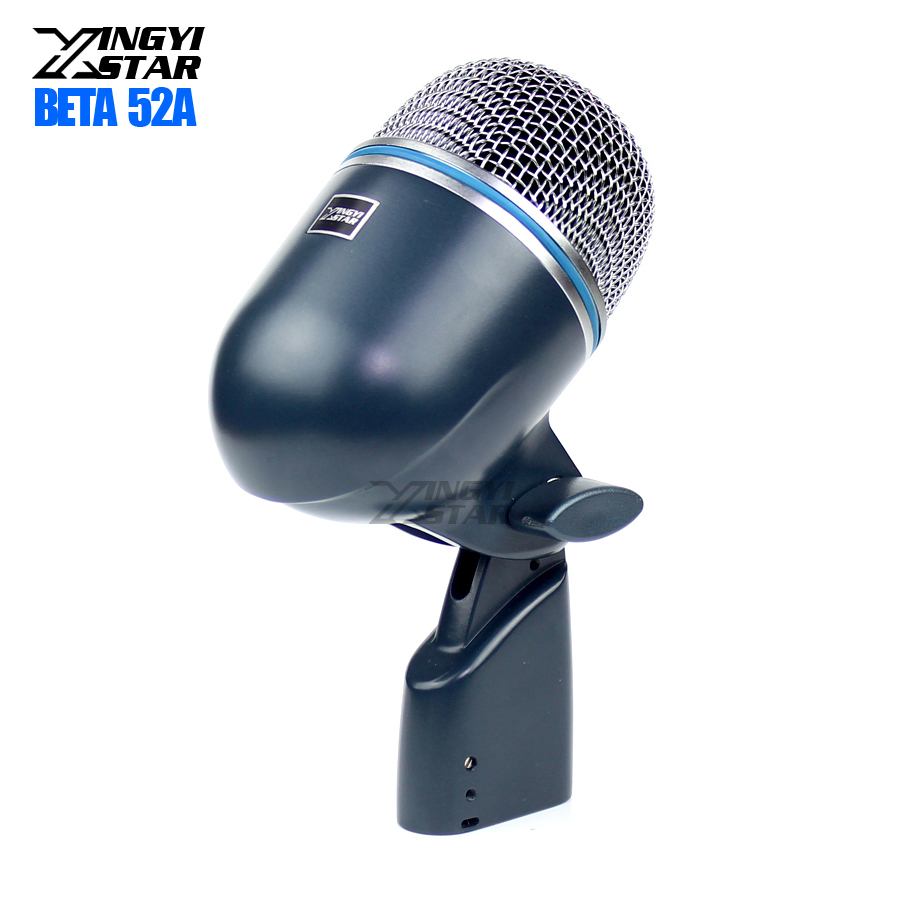 Professional Stage Bass Kick Drum Microphone Dynamic Mic For BETA 52A 52 BETA52A Studio Percussion Musical Instruments Saxophone-in Microphones from Consumer Electronics    1