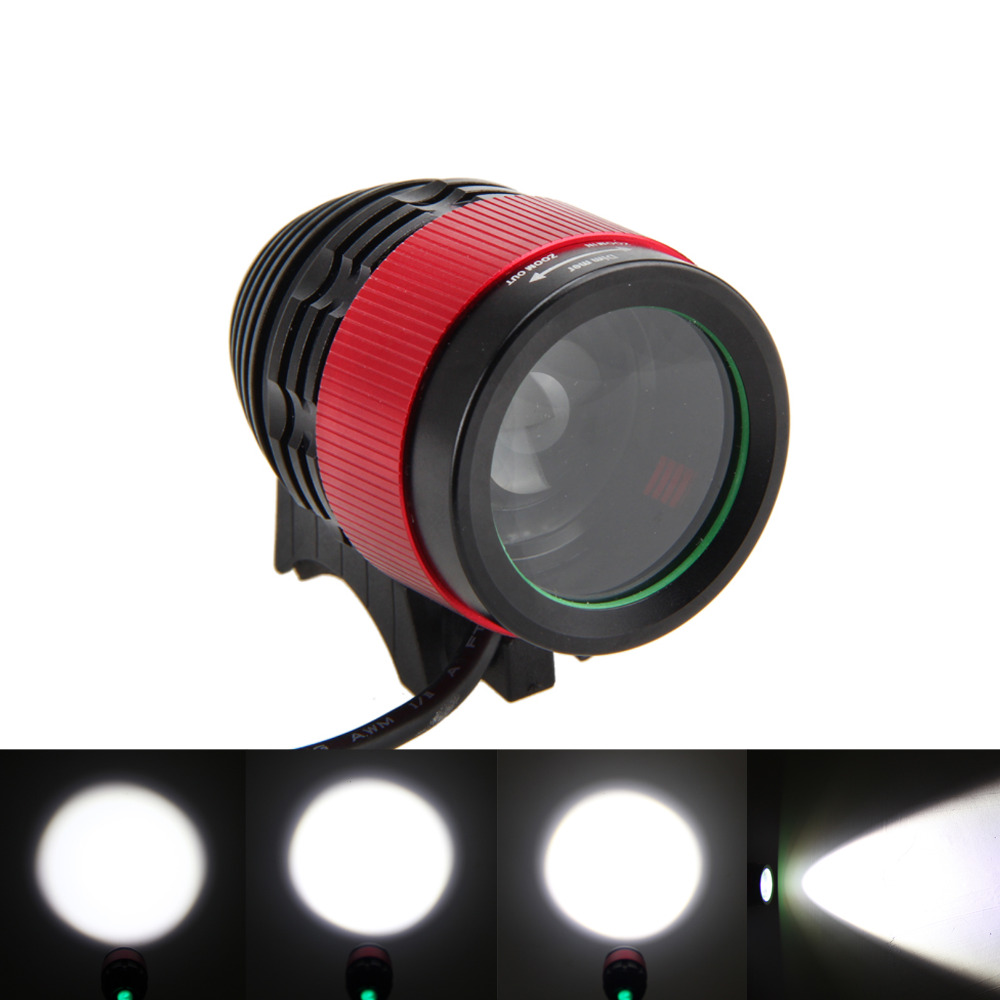 Zoomable Front Bicycle Light 2500Lm XM-L T6 LED Bike Cycling HeadLamp Flashlight Torch Only Light alonefire g700 e17 xm l t6 xm l2 zoomable 3800lm led flashlight bike light front torch waterproof adjustable focus zoom lights