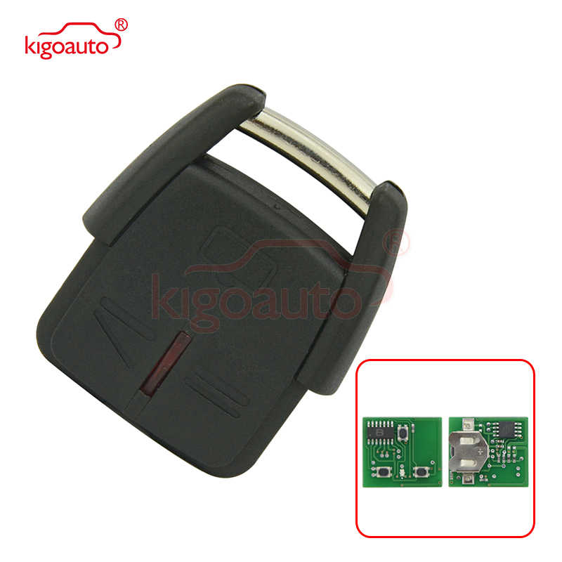24424728 voiture télécommande clé fob 3 bouton 433.9Mhz pour Vauxhall Opel Omega B Astra Zafira Frontera Vectra C kigoauto