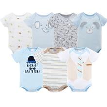 Kavkas 2018 yaz erkek bebek giysileri kısa kollu pamuklu tulumlar erkek bebek giyim ropa bebe 3 6 9 bodysuit yenidoğan kostümleri