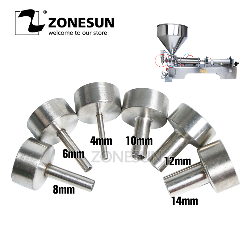 ZONESUN Nozzle For Filling Machine G1 4mm 6mm 8mm 10mm 12mm 14mm