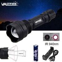 Новый IR-501b Zoomable Focus охотничий свет инфракрасного излучения оружие ИК 940nm ночного видения Водонепроницаемый тактический фонарик