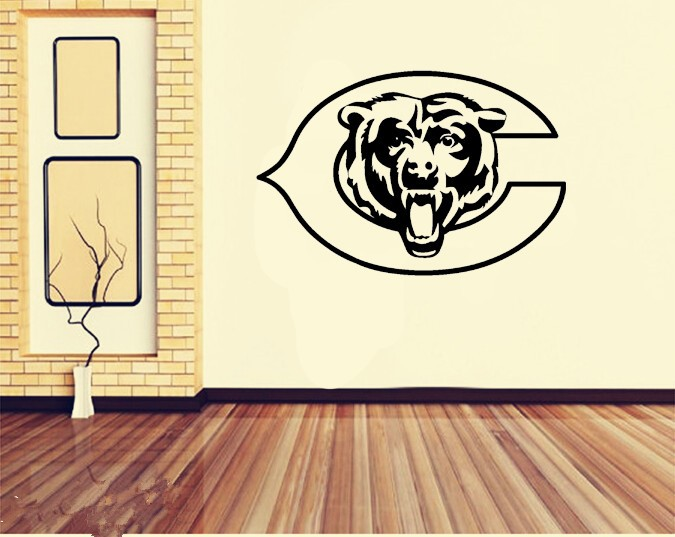 Superb Chicago Bears Wall Sticker For Kids Room Decor Part 22