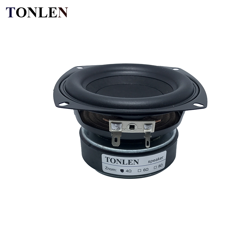 TONLEN 4 inch Subwoofer Speaker 4 ohm 8 ohm 40 W HIFI Bass High Power Speaker Horn portable audio Speakers Sound Box Sound Bar 4pcs diaphragm horn for behringer b215xl 44t30h8 44t3018 44t30d8 8 ohm