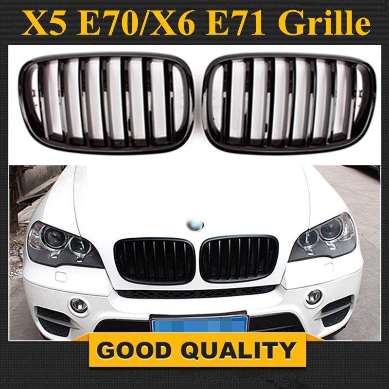 1 paire Pare-chocs Avant Sport Grilles Grille Pour 07-13 BMW E70 E71 X5 X6 Noir