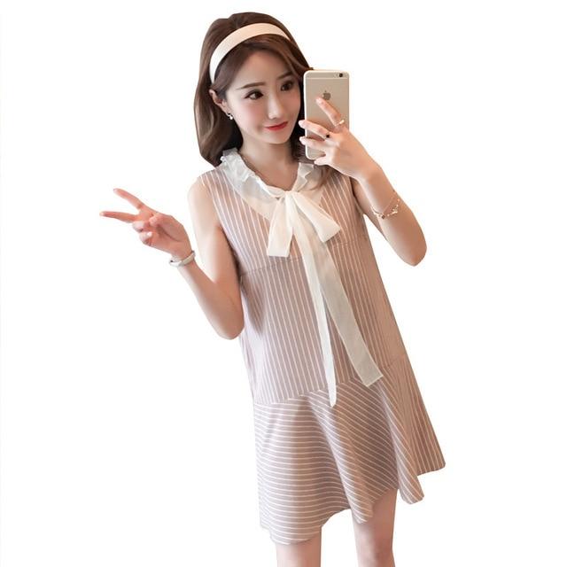 80d44a39d49 2018 New Summer Maternity Clothes Sleeveless Nursing Dress for Pregnant  Women Outfits Cute Breastfeeding Dress