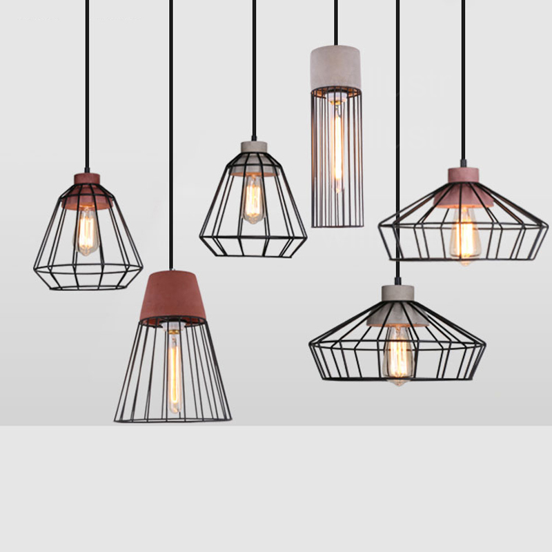Willlustr cement pendant lamp iron cage frame hotel restaurant hanging lighting dinning room bedside concrete suspension light willlustr concrete pendant light cement suspension lamp minimalist design nordic hanging lighting dinning room restaurant hotel