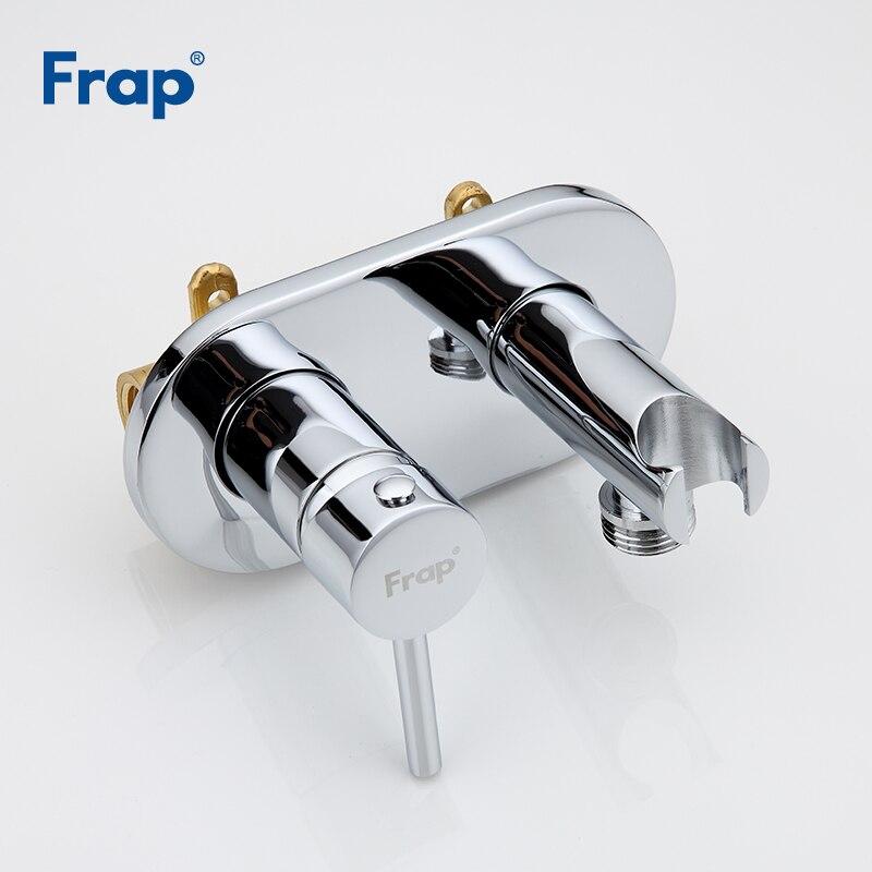 FRAP Bidets laiton bidet toilette eau froide et chaude mélangeur main pulvérisateur chrome salle de bains bidet robinet douche mousseline douche - 4