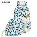 Women Canvas Cute Bears Printing Big Capacity Backpacks School Composite Bags For Teenagers Ladies Girl Bagpack Mochila Rucksack