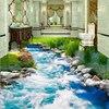Beibehang Custom 3D Floor Stickers Grass Grass Water 3D Floor Tiles Three Dimensional Painting Wall Papers