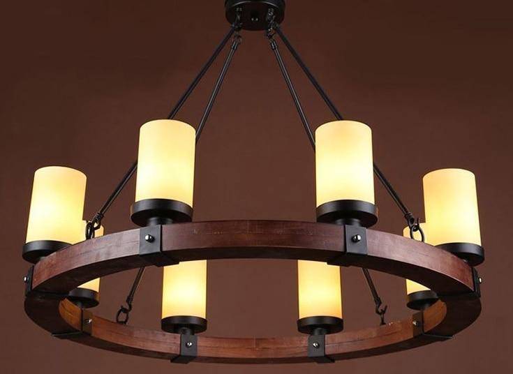 Kronleuchter Holz ~ 6 8 köpfe amerikanischen stil persönlichkeit retro cafe kronleuchter