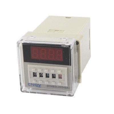 DC 24V 2NO 2NC 1min-99h99min AC 220V 5A Delay Timer Relay DH48S цена