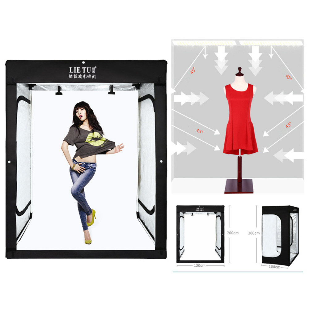 200cm Photo Tent Tabletop Shooting LED Lighting Softbox Portable Studio Box for Adult Model Portrait Clothes Guitar Furniture image