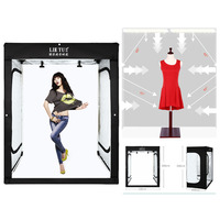 200cm Photo Tent Tabletop Shooting LED Lighting Softbox Portable Studio Box for Adult Model Portrait Clothes Guitar Furniture
