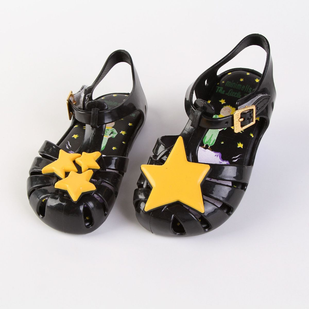 Mini Melissa Children Fashion Hollow Buckle Metal Kids Casual Stars Boys Beach Shoes Clogs Mules Cute Girls Jelly Shoes Sandals