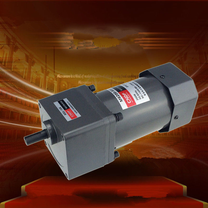 цена на Single phase 110V/115V 220V/230V AC Vertical Gear Motor Speed Adjust the speed 200W M6200 6GU 7RPM-450RPM