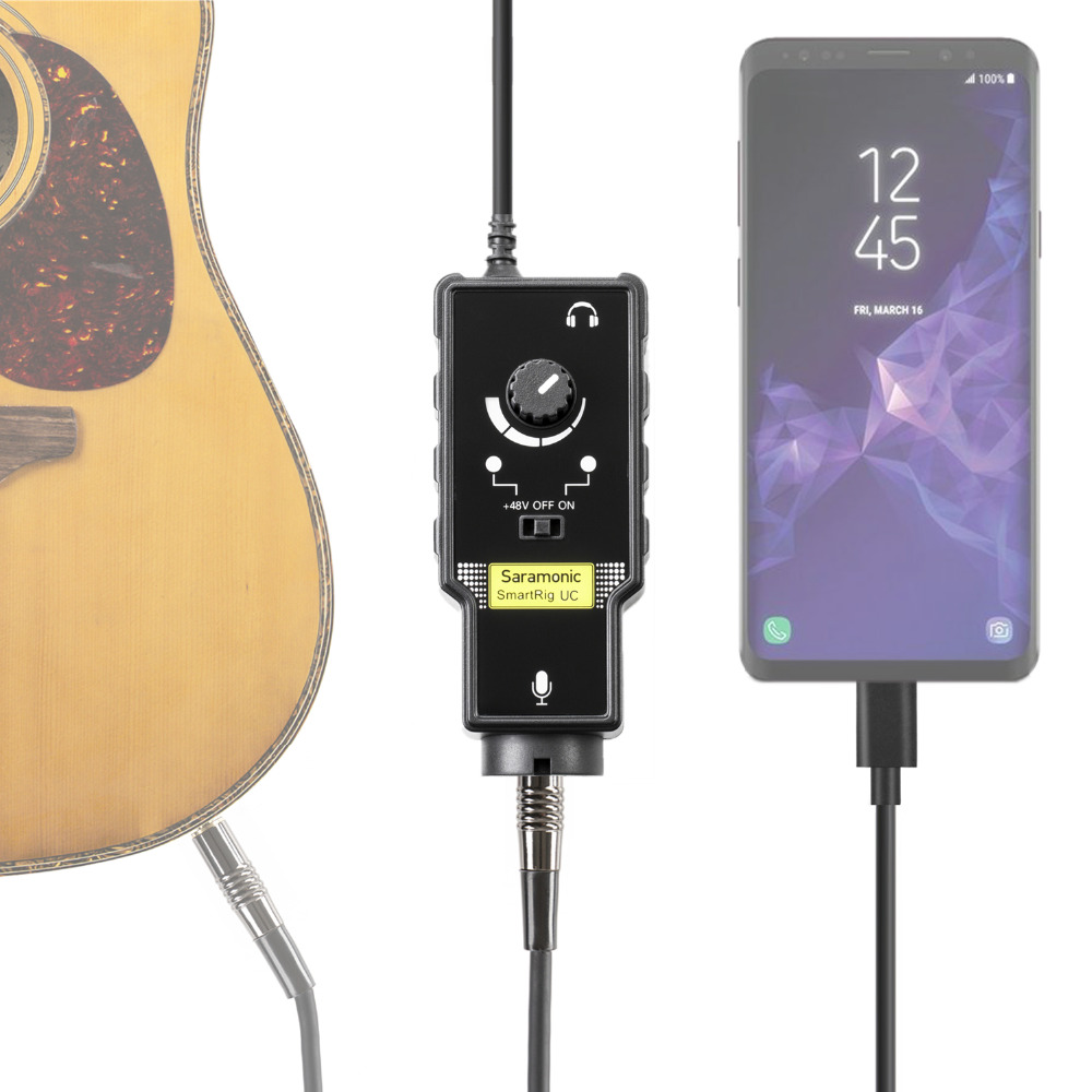 Saramonic SmartRig UC XLR Microphone Adapter Pream Audio Rig Guitar Interface for Recording Music With USB