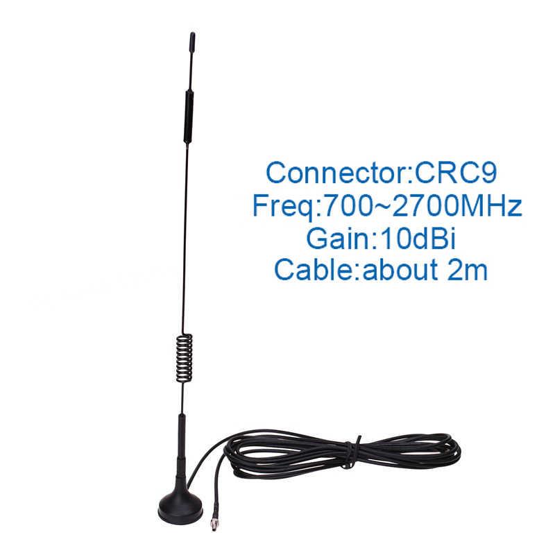 3 جرام 4 جرام LTE هوائي CRC9 MiMo هوائي 12dBi مودم هوائي خارجي مع 2 متر هوائي ممغنط ل 3 جرام 4 جرام هواوي E3372 أجهزة المودم