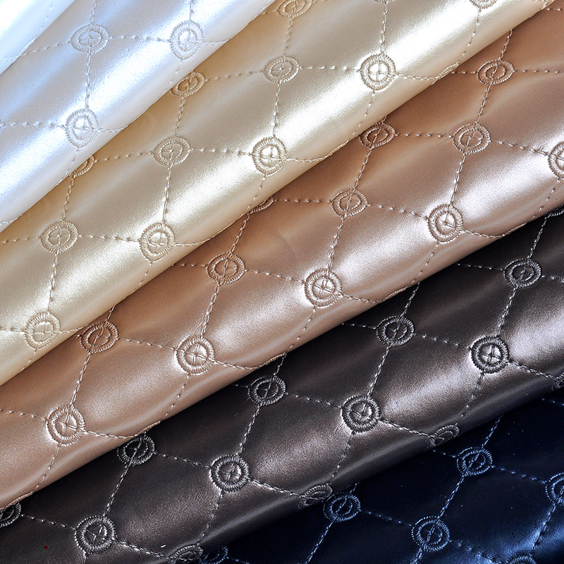 100x135cm faux leather pu fabrics for bag making fake - Telas para sofa ...