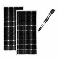2 Pcs Panneau Solaire 100 w 12v Solar Kit 2 in 1 Connector Panel Solar 200W Solar Charge Battery Camping Car Caravane Motorhome