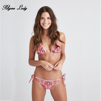 Rhyme Lady Brazilian Bikini 2018 Women Bandeau Bikini Swimsuit Push Up Bandage Bikini Set For Female