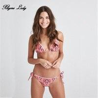 Rhyme Lady Brazilian Bikini 2018 Women Bandeau Bikini Swimsuit Push Up Bandage Bikini Set For Female