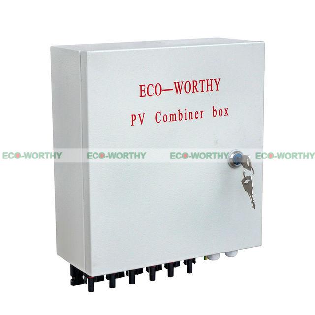 4pcs 160W 12V Mono Solar Panel W/ 6 String PV Combiner Box for Caravan Yacht Solar Generators
