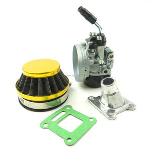 Image 3 - Lochoshi corrida carburador conjunto do filtro de ar tubo de admissão para 49cc 50cc 60cc 66cc 80cc 2 tempos mini bolso bicicleta atv