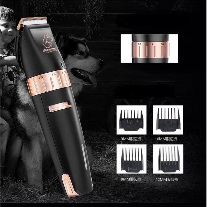 Professional electric pet dog hair trimmer cat dog grooming scissors ceramic hair cutting machine pet dog shaver   (7)