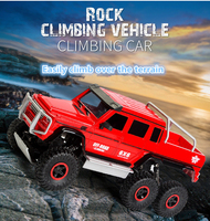 2018 hot Six wheel drive pickup truck 2.4G 6WD 38CM large Resistance to fall Electric Climbing Monster remote control RC truck