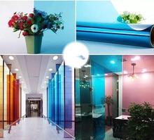 Color film window Self-adhesive glass sticker heat insulation sunscreen cellophane transparent decorative window film цены