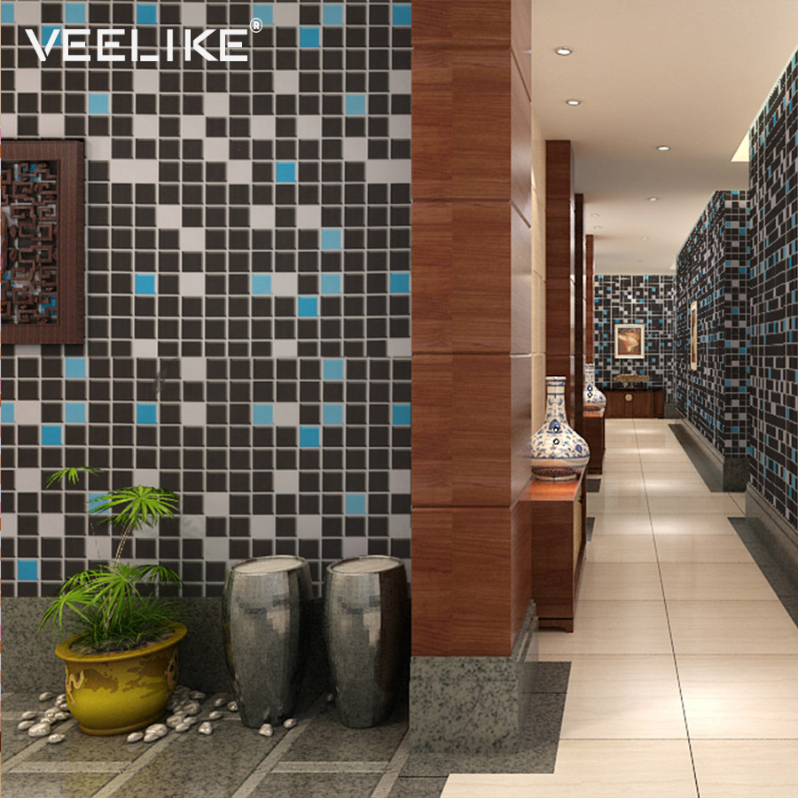 Vinyl Mosaic Self Adhesive Wallpaper For Kitchen